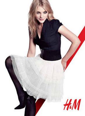 Jessica Stam on H&M Fall Winter