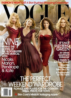 Nine Stars Cover Vogue November 2009 pics