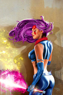 Gorgeous portrait of Psylocke