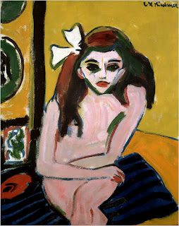 Marzella (Franzi) by Kirchner, 1909-10