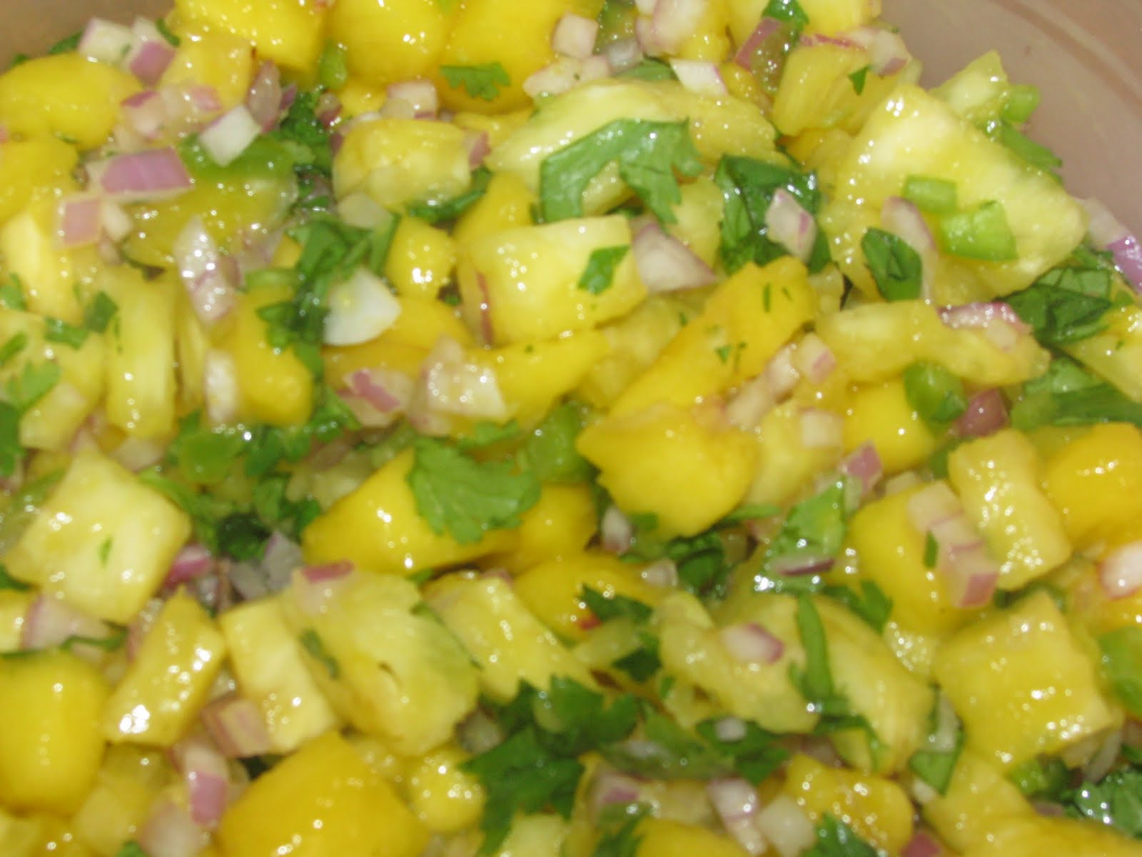 Shamrocks and Shenanigans: Pineapple Mango Salsa
