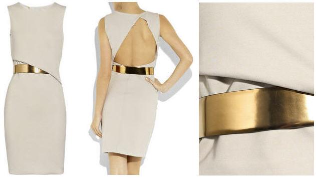 Backless Sequin Dress - Long Sleeve | Gold Sequin Dress