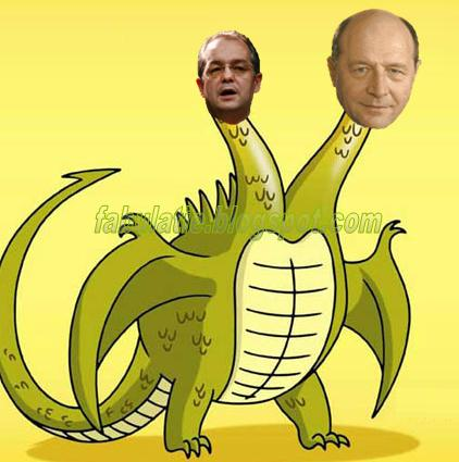 Balaurul puterii - Traian Boc si Emil Basescu