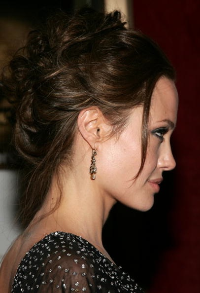 Check out some pictures of Jolie's updos: Angelina Jolie in 15th Annual