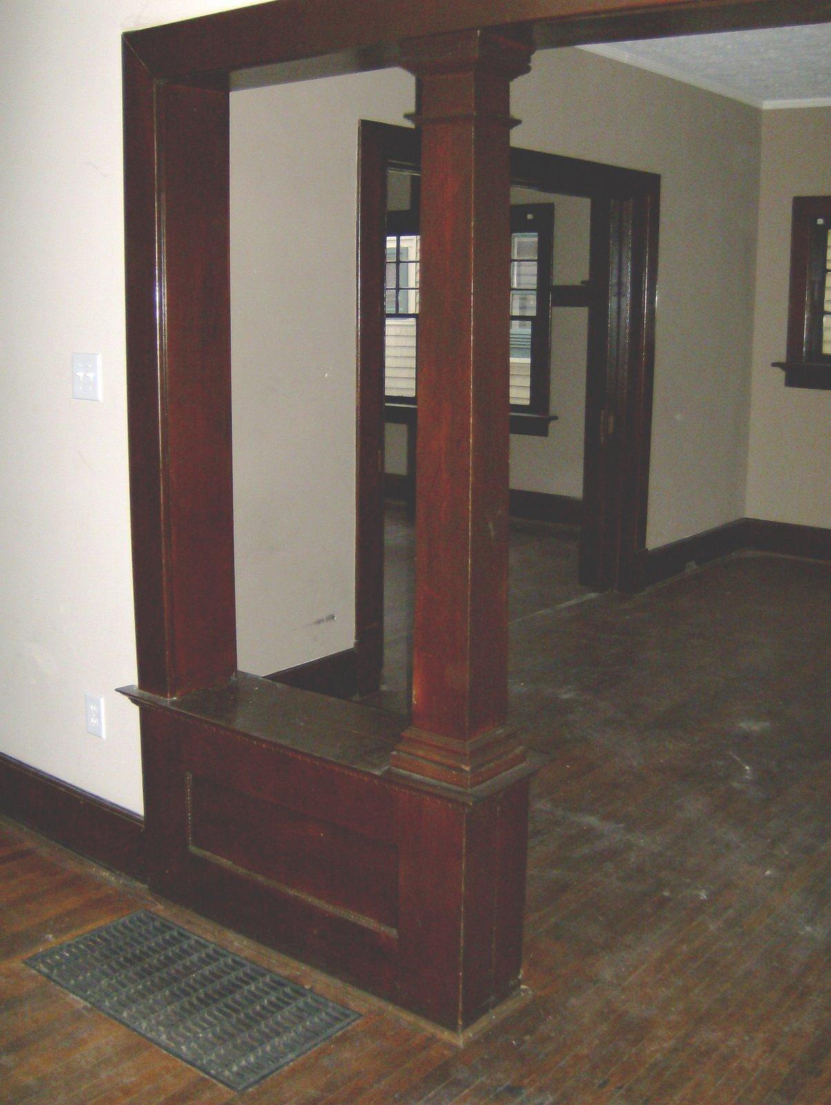 Foyer Room Divider : Foyer idea built in bench as a room divider