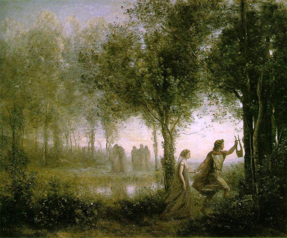 Orfeo rescatando a Euridice, de Corot