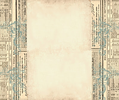 Blog Backgrounds on The Background Fairy  Blog Background   Vintage French Newspaper