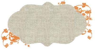 Free Blog Header linen burlap orange