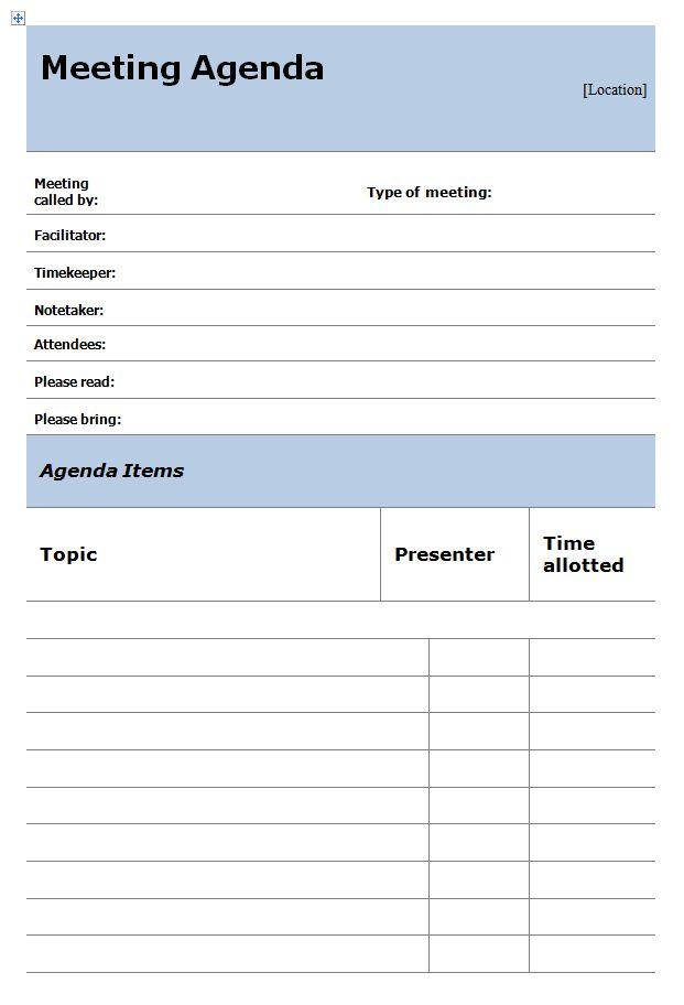 meeting agenda templates free downloads .