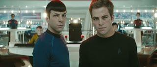 Zachary Quinto y Chris Pine en Star Trek (2009)