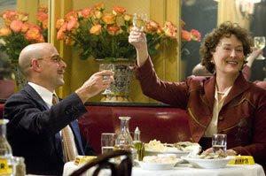 Stanley Tucci y Meryl Streep en Julie & Julia