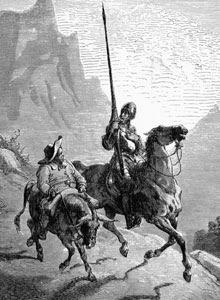 Don Quijote y Sancho Panza por Gustave Doré