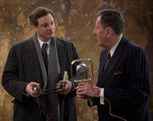 Colin Firth y Geoffrey Rush en El discurso del rey