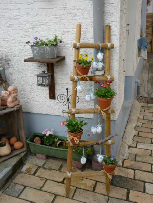 Freude am sticken zu ostern - Leiter dekorieren ...
