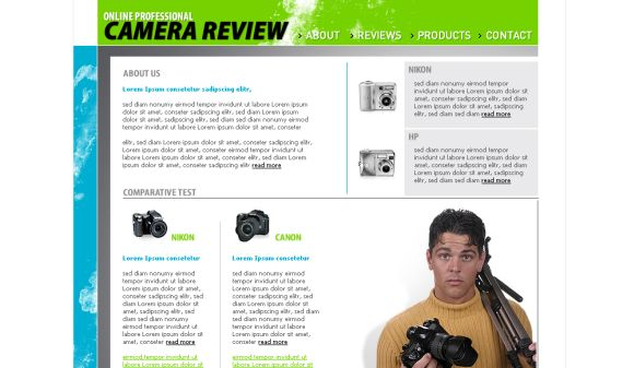 Online Camera Review Free Web Template