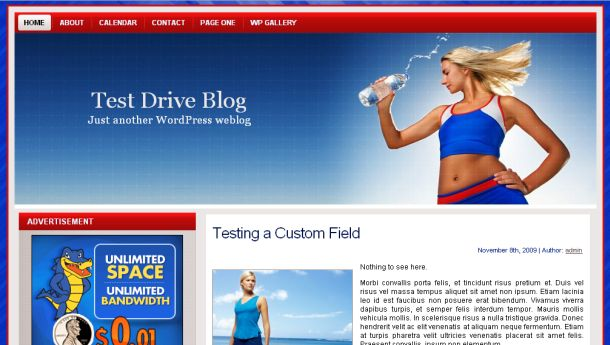 Fitness Club Women Blue Wordpress Theme