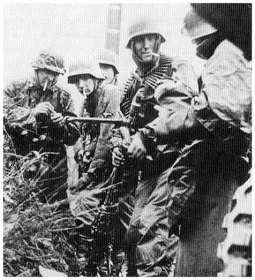 Descanso de la Leibstandarte en Normandía