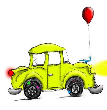 gambar mobil kartun