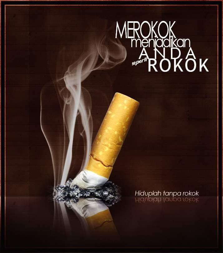 Poster kesehatan tentang rokok