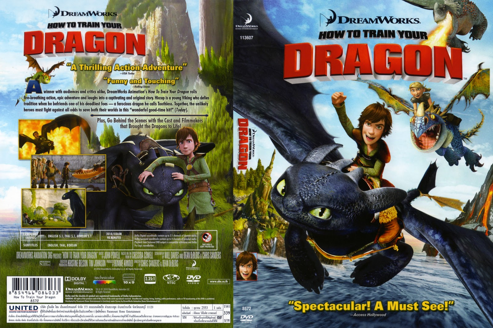 DVD > How To Train Your Dragon [2010] Master R3 THAI | My ...