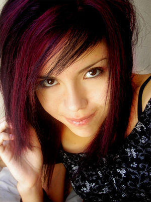blonde medium emo hairstyles for girls