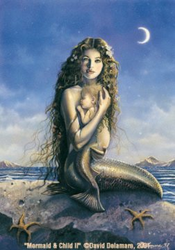 Mermaid & Child II - David Delamare