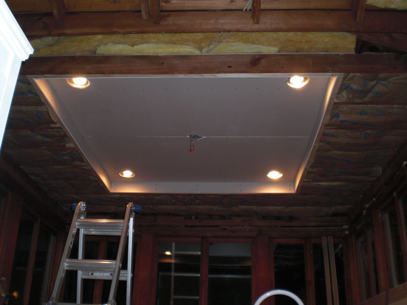 once the framing was done it was time to add insulation lighting and drywall
