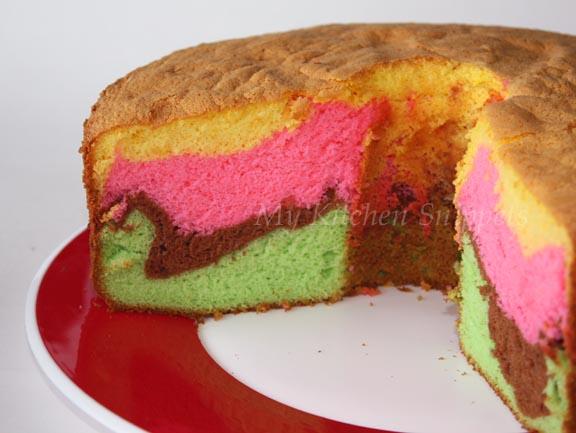 My Kitchen Snippets: Rainbow Chiffon Cake