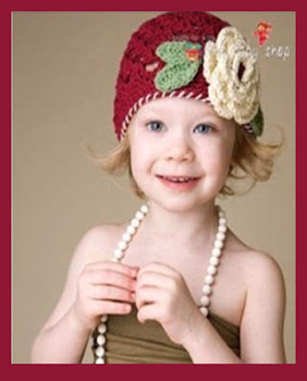 SWEET CROCHET *HR 101*BURGUNDRY*AGE*6MTH-2YR