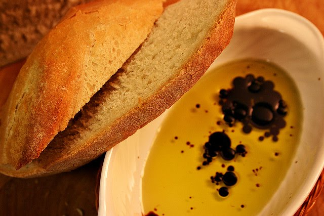 Bread, Olive oil and Balsamic vinegar