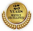 25 YEARS OF EXCELLENCE SERVICE .....