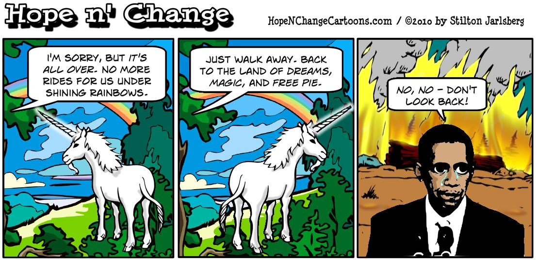 In the face of massive Democrat losses in the midterm elections, Barack Obama says goodbye to his unicorn, hope and change, hope n' change, hopenchange, stilton jarlsberg