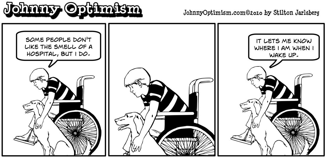 Johnny Optimism, johnnyoptimism, hospital smell