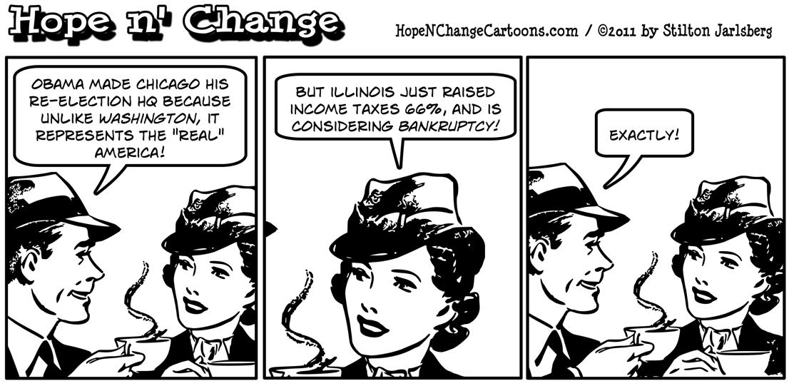 Obama moves reelection campaign to Chicago because it represents real America, hope n' change, hopenchange, hope and change, stilton jarlsberg