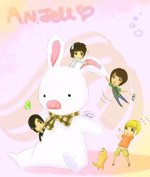 Korean Accesories: a.n.jell cartoon