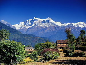 Village in Gandaki, Annapurna Range, Nepal Images, Picture, Photos, Wallpapers
