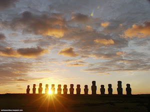 Moais at Dawn, Ahu Tongariki, Easter Island, Chile Images, Picture, Photos, Wallpapers