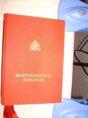 Esta es la cubierta del Martyrologium Romanum