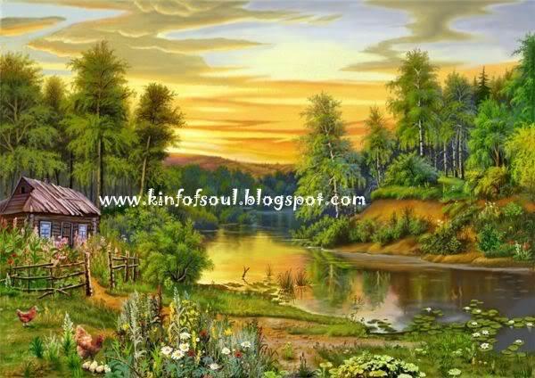 Gambar Lukisan Pemandangan Kkawan Blogspot 2013