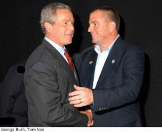 Bush with convicted Ohio fundraiser Tom Noe