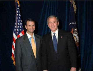 Bush with friend Jack Abramoff