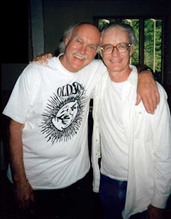 Legendary consciousness adventurer Ram Dass and me at the Omega Institute, July 1993