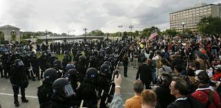 Standoff at the John Ireland Bridge