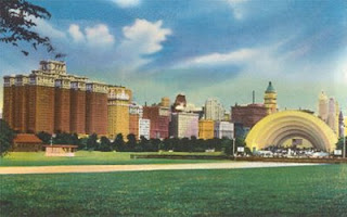 The original Grant Park bandshell, demolished in the late 1950s
