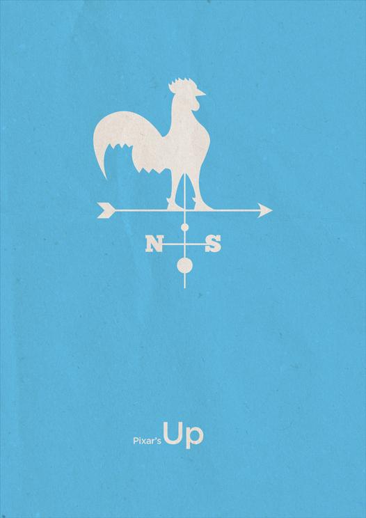 Flyer goodness pixar video game minimalism by boris for Art of minimal boris