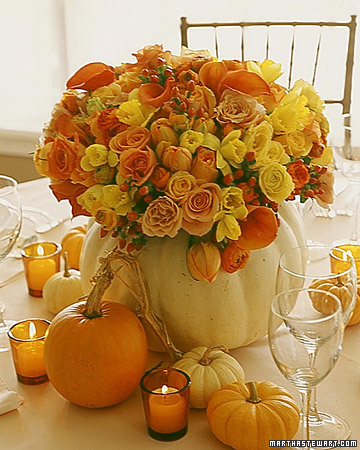 DIY Pumpkin Wedding Centerpiece