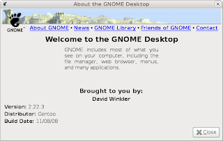 Gentoo's GNOME About Splash 2.22.3