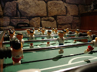 foozball table at chateau pappaD