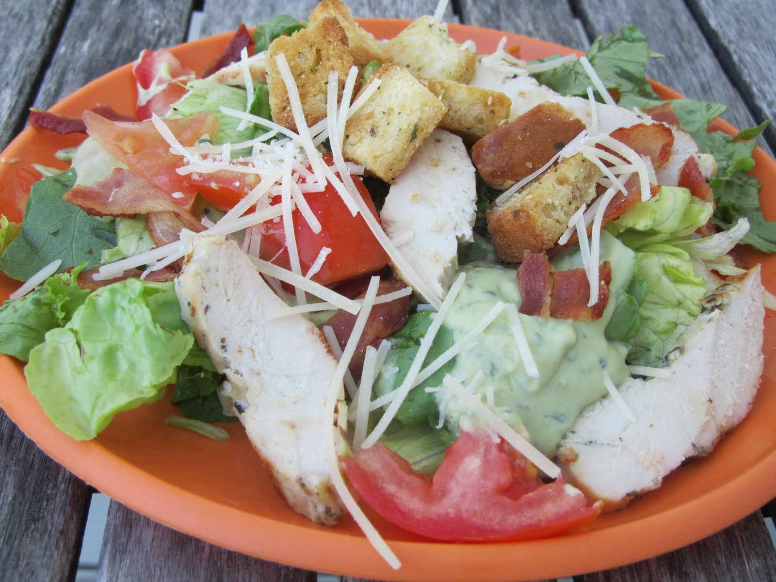 chicken blt salad with avocado dressing chicken blt salad about