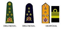 Oramiral, Orgeneral
